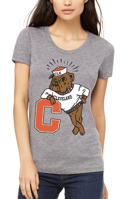 CLE Logo - Unisex Crew - Heather Brown