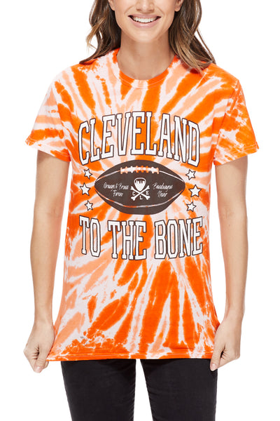 Cleveland to the Bone - Unisex Tie Dye Tee - CLE Clothing Co.