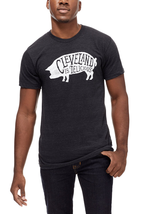 Cleveland Is Delicious - Unisex Crew - Black - CLE Clothing Co.
