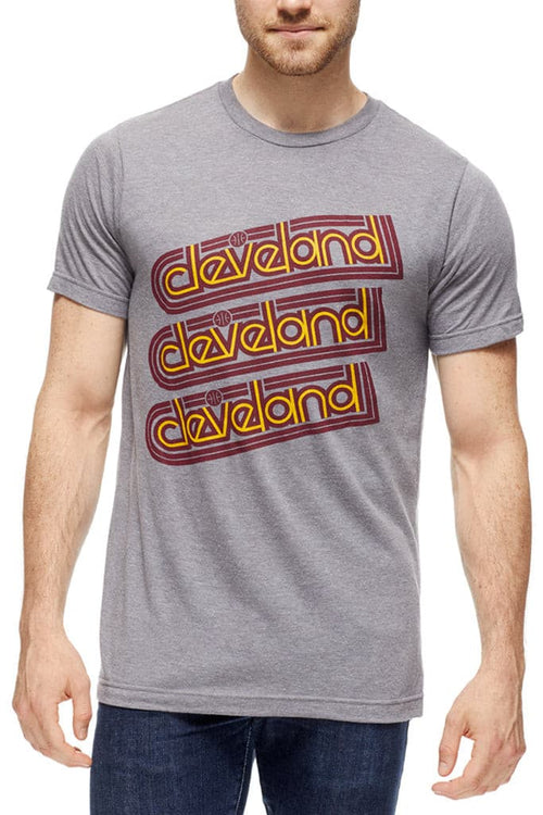 Cleveland Repeat - Wine/Gold - Unisex Crew - CLE Clothing Co.