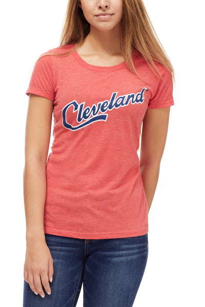 Cleveland Script - Navy/Red - Womens Crew