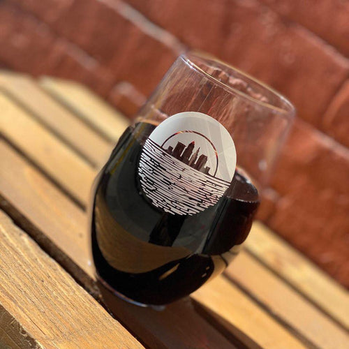 Cleveland Sunset 19oz Stemless Wine Glass