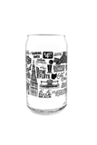 Cleveland Collage Pop Can Glass - CLE Clothing Co.