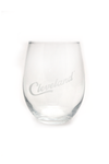Cleveland Script Stemless Wine Glass - CLE Clothing Co.