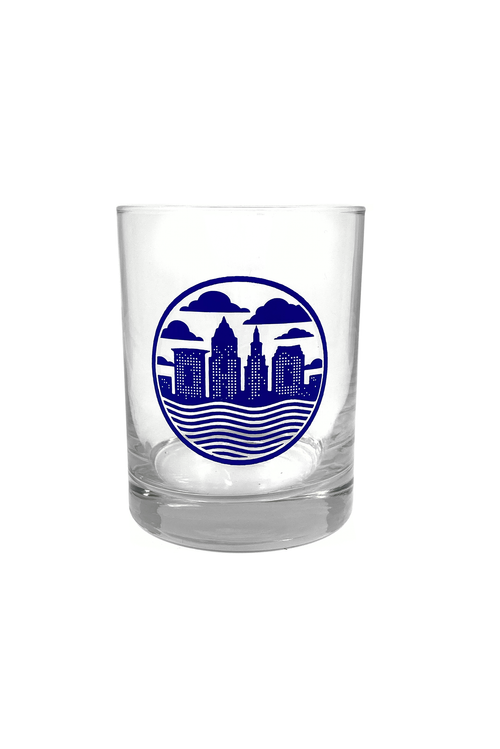Cleveland Skyline Seal Old Fashioned Glass - CLE Clothing Co.