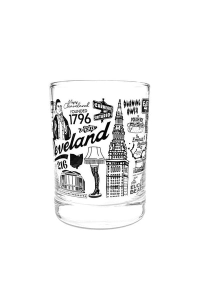 Cleveland Collage Old Fashioned Glass