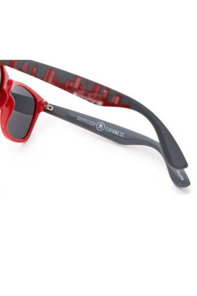 Columbus Skyline Sunglasses - Scarlet & Grey - CLE Clothing Co.