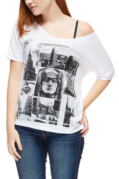 Downtown Photos - Women's Slouchy Tee