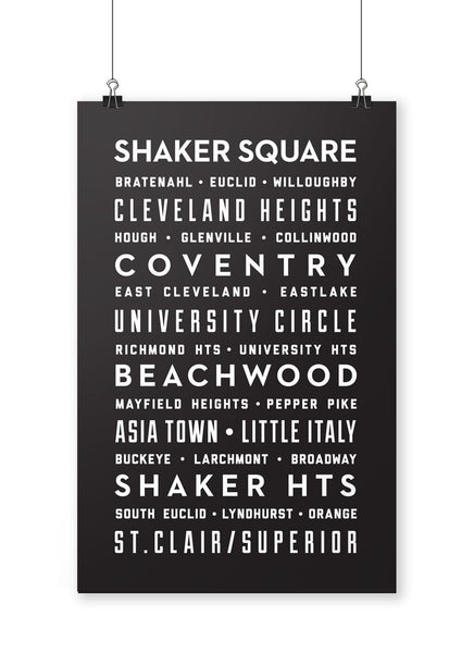 East Side Neighborhoods Poster - CLE Clothing Co.