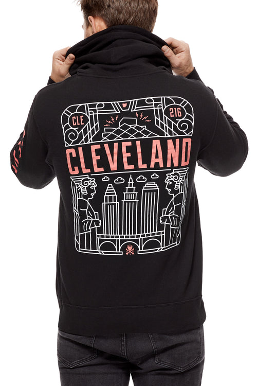 Cleveland Art Deco - Unisex Zip-Up Hoodie - CLE Clothing Co.