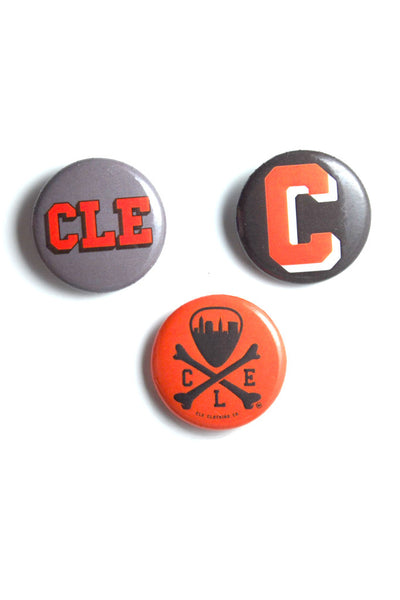 Brown/Orange Button Set