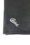 Embroidered Groovy Cleveland Script Blanket - Dark Grey