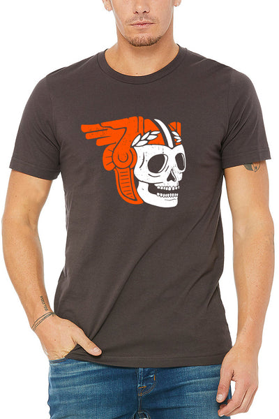 Skull w/ Guardian Helmet - Unisex Crew - CLE Clothing Co.