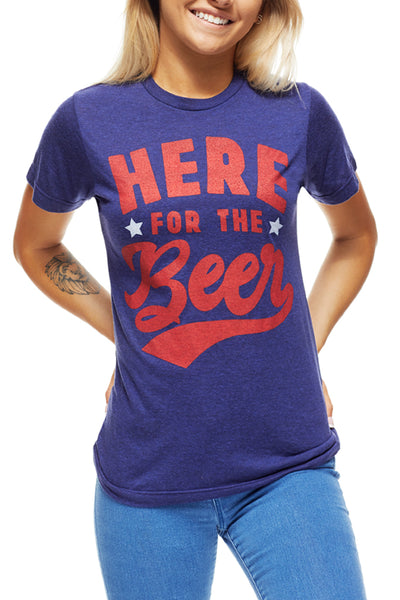 Here For The Beer - Unisex Crew