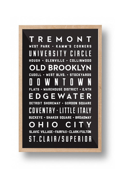 Cleveland Neighborhoods Poster
