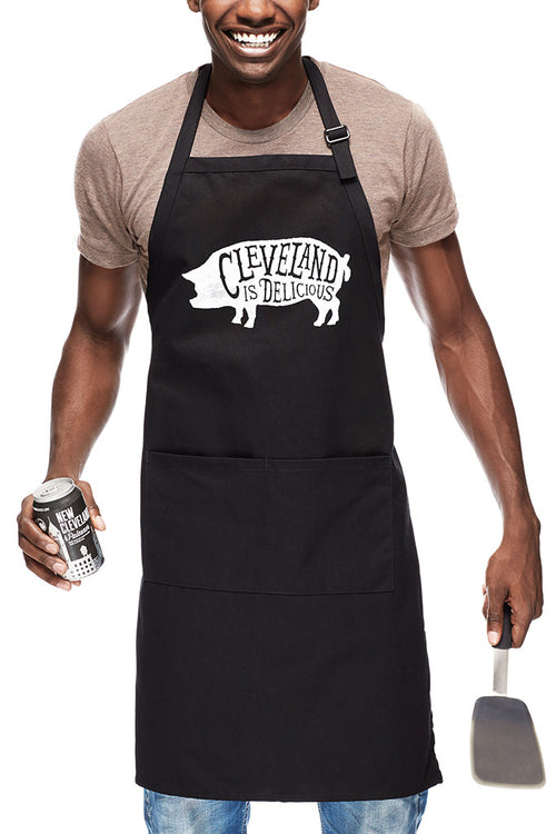 Cleveland Is Delicious - Chef's Apron - CLE Clothing Co.