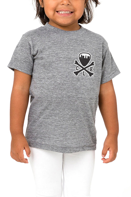 CLE Logo - Kids Crew - Grey - CLE Clothing Co.