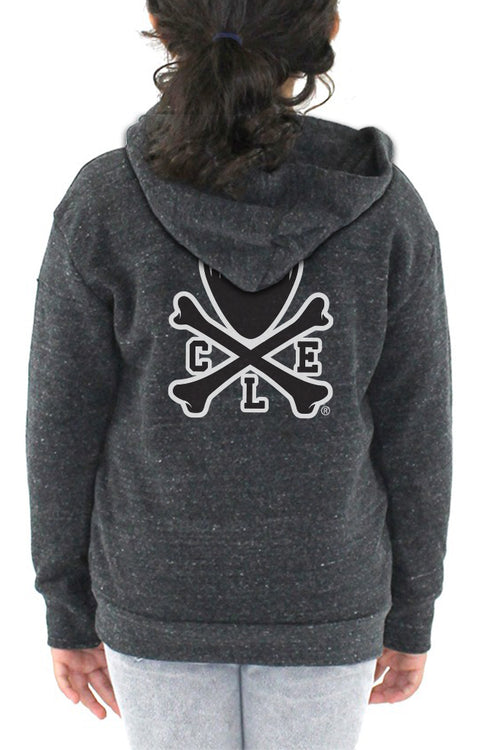 CLE Logo Kids Hoodie - Black - CLE Clothing Co.