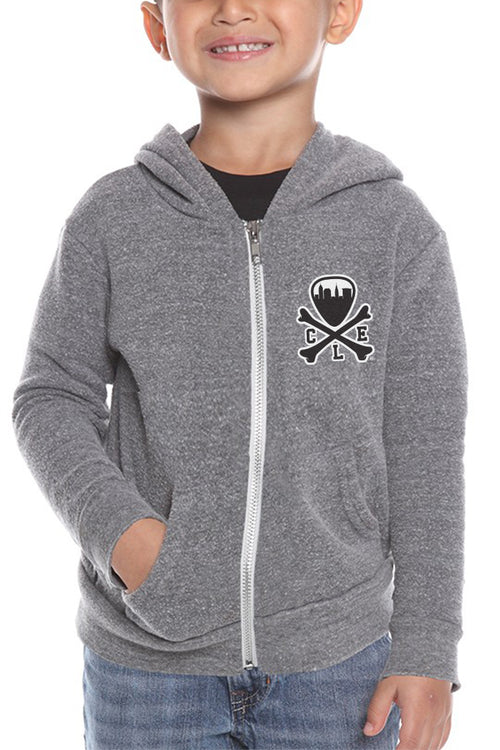 CLE Logo Kids Hoodie - Grey - CLE Clothing Co.