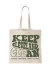 Keep Cleveland Clean Tote Bag