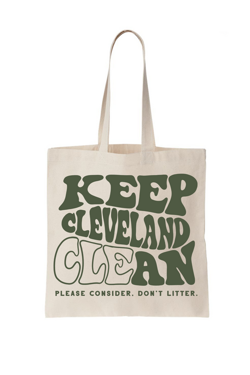 Keep Cleveland Clean Tote Bag - CLE Clothing Co.