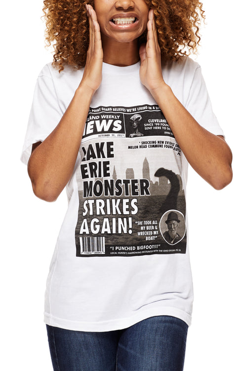 Lake Erie Monster Tabloid - Unisex Crew