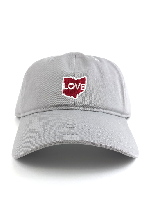 "Ohio Love ""Dad Hat"" - Grey - CLE Clothing Co."