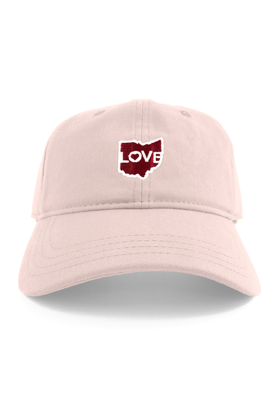 "Ohio Love ""Dad Hat"" - Pink - CLE Clothing Co."