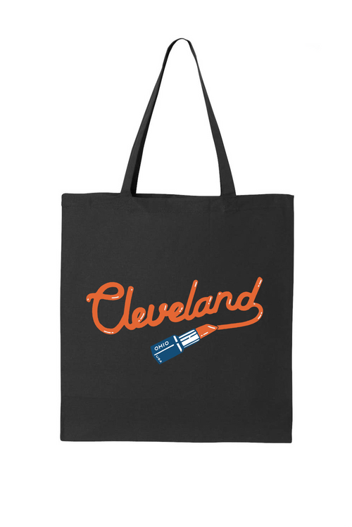 Cleveland Lipstick Tote Bag - CLE Clothing Co.