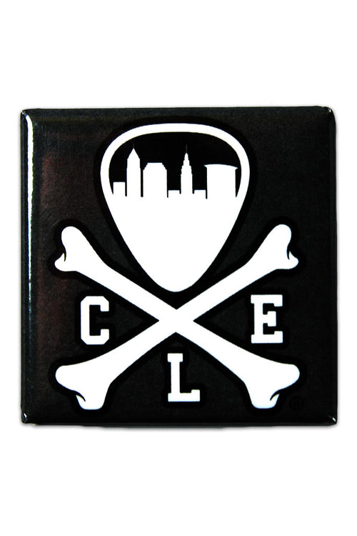 CLE Logo - Black - Fridge Magnet - CLE Clothing Co.