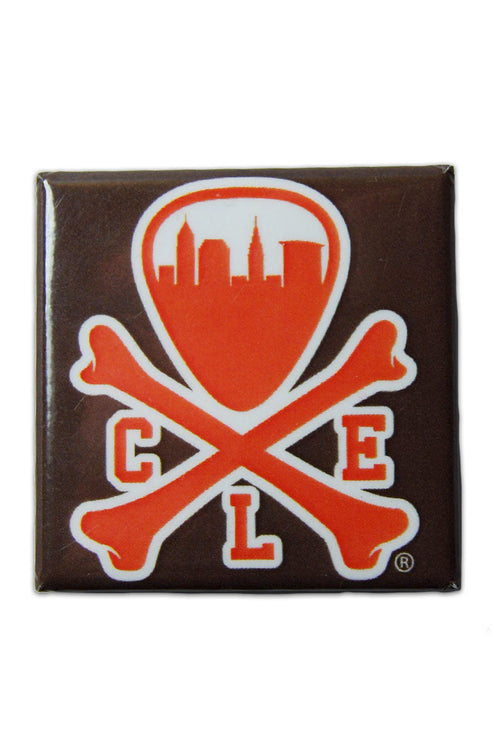 CLE Logo - Brown/Orange - Fridge Magnet