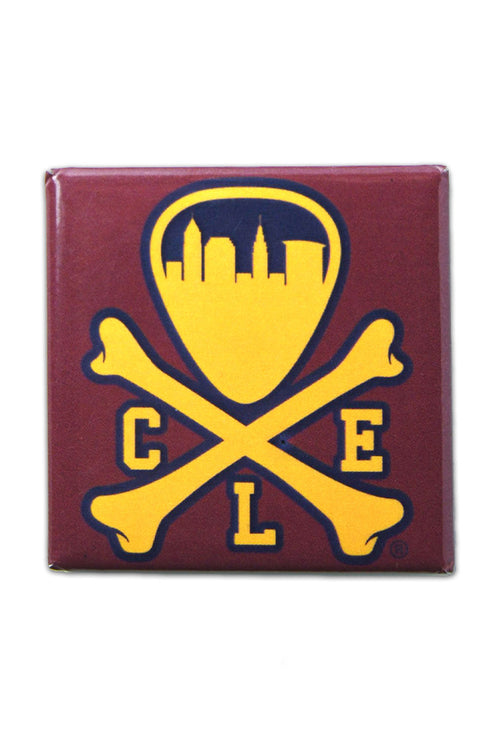 CLE Logo - Wine/Gold - Fridge Magnet