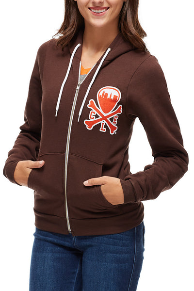 CLE Logo Hoodie - Brown & Orange - CLE Clothing Co.