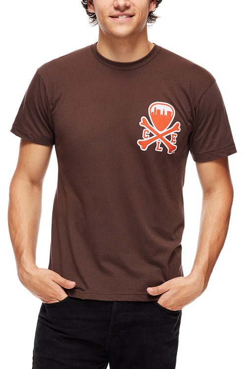 CLE Logo - Brown/Orange - Unisex Crew - CLE Clothing Co.