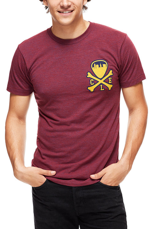 CLE Logo - Wine/Gold - Unisex Crew - CLE Clothing Co.