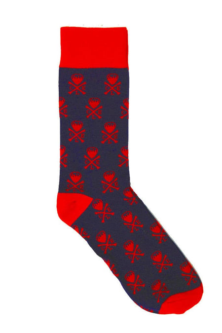 Cleveland Stripe - Navy/Red - Dress Socks