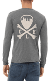CLE Logo - Unisex Long Sleeve Crew - Grey