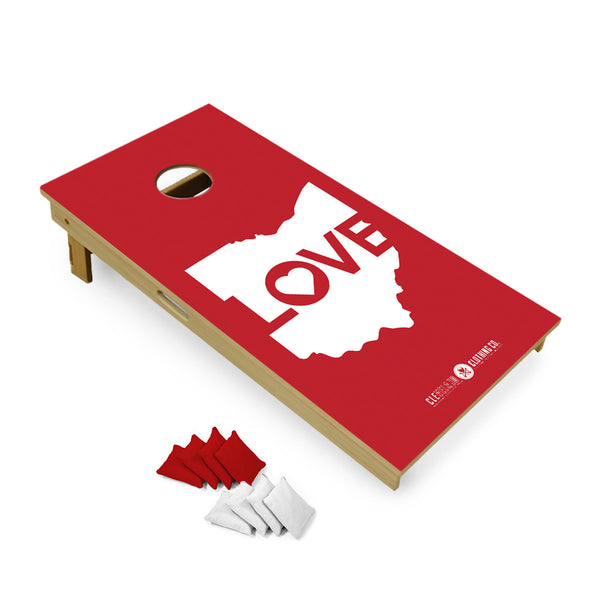 Ohio Love Cornhole Set