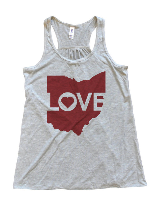 Ohio Love - Womens Flowy Tank