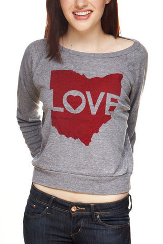 Ohio Love - Women's Light-Weight Pullover