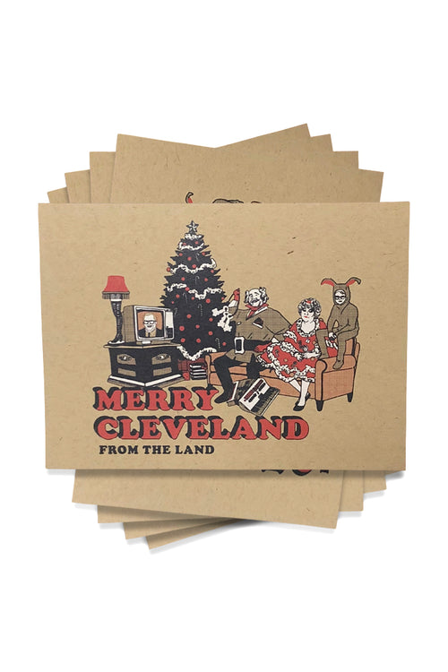 Merry Cleveland Greeting Card - 5 pack - CLE Clothing Co.