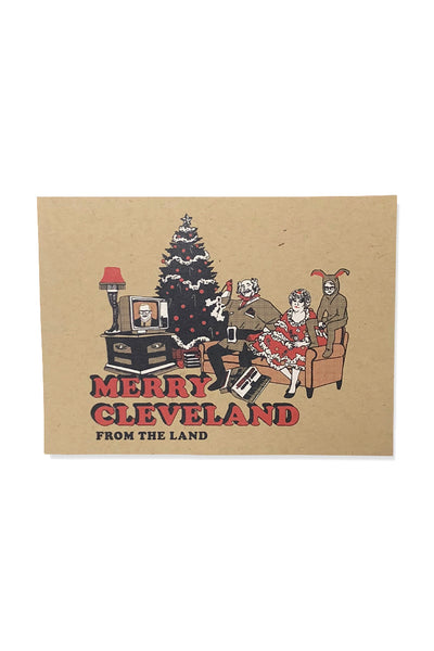 Merry Cleveland Single Greeting Card