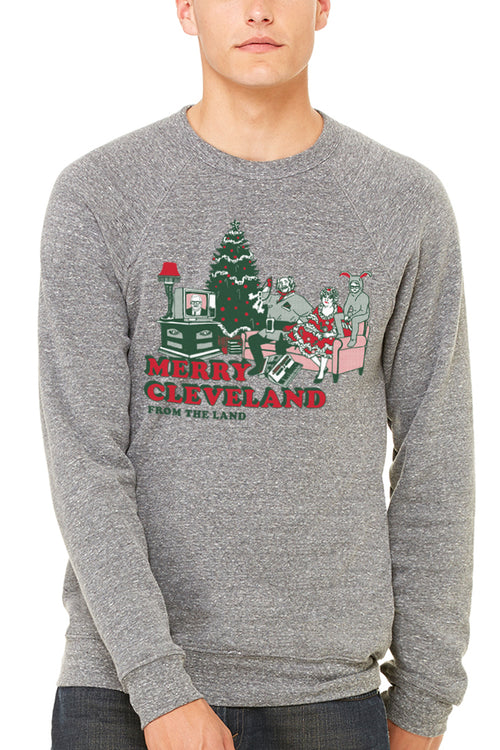 Merry Cleveland 2018 - Fleece Crewneck Sweatshirt