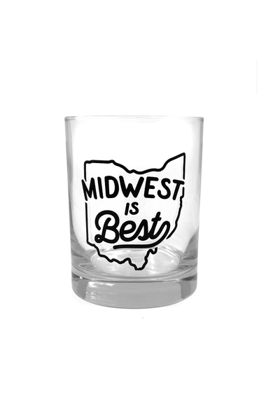 Midwest is Best Old Fashioned Glass - CLE Clothing Co.