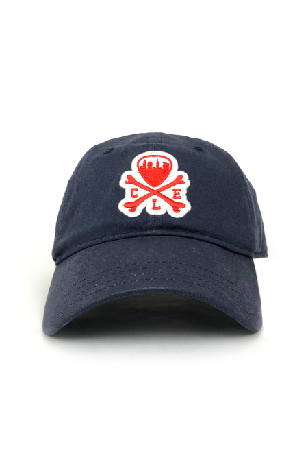 CLE Logo on Repeat - Navy & Red