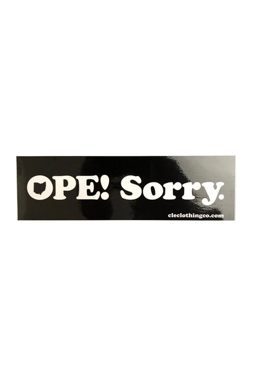 OPE! Bumper Sticker - CLE Clothing Co.