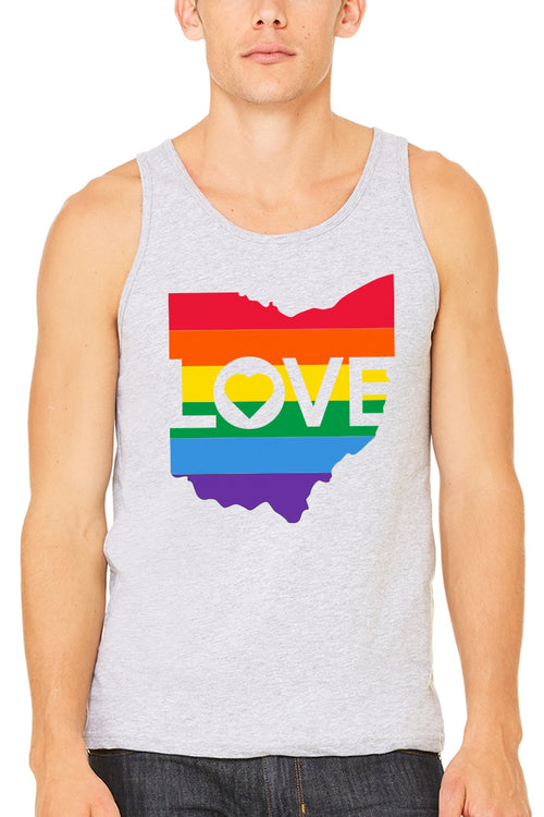 Ohio Love Pride - Unisex Tank - CLE Clothing Co.