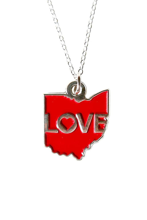 Ohio Love - Enamel Pendant Necklace