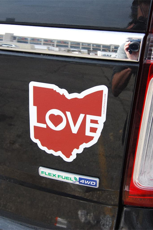 Ohio Love - Red - Car Magnet