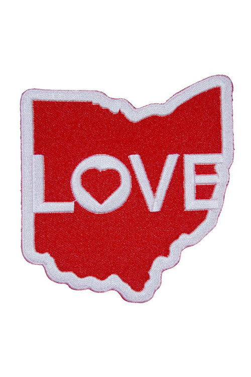 Ohio Love - Iron on Patch - CLE Clothing Co.